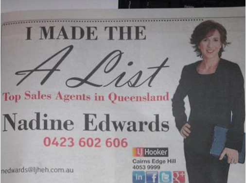 Nadine Edwards in the Cairns Post